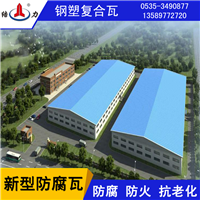 造纸厂钢塑复合瓦,化肥厂防腐彩钢瓦,asp板