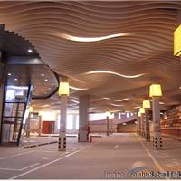 异形铝方通-弧形木纹铝方通-咖啡厅弧形铝方通