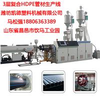 高速多层复合hdpe管材机组