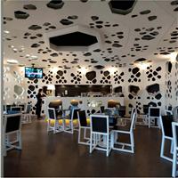 镂空铝单板-商店门头招牌造型天花板
