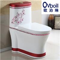 厂家直销彩色马桶陶瓷卫浴坐便器节水超漩式