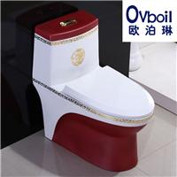 彩色马桶陶瓷卫浴连体坐便器承接OEM工程