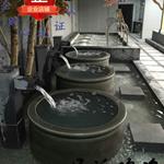 定制青瓦台高档温泉日式陶瓷泡澡缸的价格