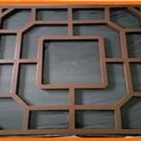 中式仿古铝窗花款式铝材木纹立体中式铝窗花