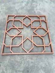 仿木铝合金窗花明格窗_仿木制铝合金防盗网