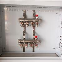 地暖铜镀镍分水器 1寸地暖分水器批发