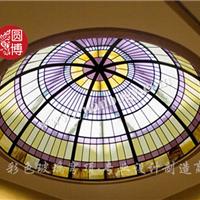 厂家直销彩色彩绘教堂玻璃穹顶