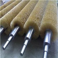 热销缠绕式钢丝辊刷 镀铜丝弹簧刷除锈打磨