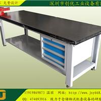 50mm复合板铺8mm钢板工作台、重型钳桌、装配钳工工作台带虎钳