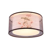 现代客厅卧室布罩吸顶吊灯