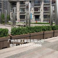 户外塑木花箱 生态木花箱 商业街木塑花坛