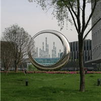 景观雕塑厂家室外建筑装饰镜面不锈钢雕塑
