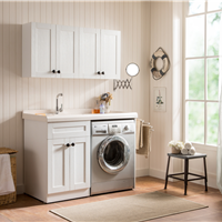 供应 洗衣柜实木可切角洗衣机柜浴室柜组合