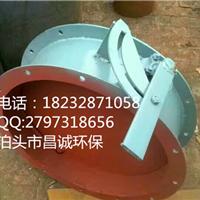 山西法兰式烟气手动通风蝶阀专业生产厂家