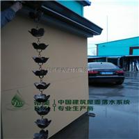 徐州紫铜雨水链 荷花型金属雨链哪家强