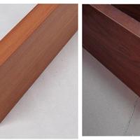 西餐厅装饰吊顶木纹铝方通