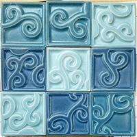 供应哑光防滑拼花窑变陶瓷马赛克,釉色定制