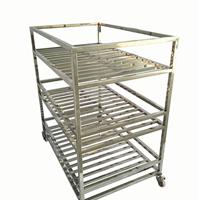 不锈钢加工定制 三层推车 货架
