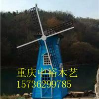 四川贵州仿古防腐木水车景观水车荷兰风车