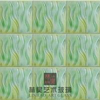 供应林昊背景墙装饰玻璃 情 酒店厅背景墙