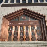 兰州品牌好的铜门、检查院铜门案例