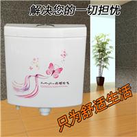 卫浴超强力蹲便器重水箱壁挂式
