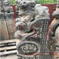 青石板花岗岩定制门墩雕刻 石狮门牌摆件