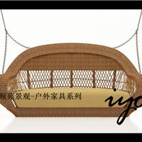 供应户外休闲家具餐厅吊椅高档藤秋千椅