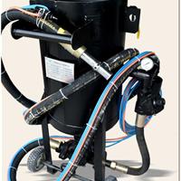 柳州移动式高压增压加压106P喷砂罐打砂机