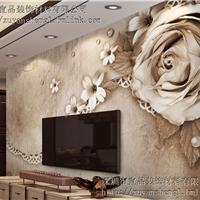 3D立体现代中式电视沙发背景墙壁画墙纸