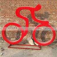 体育运动人雕塑  抽象人物骑车不锈钢雕塑