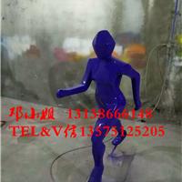 玻璃钢几何抽象跑步运动人物亲子锻炼雕塑厂
