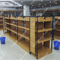 天津超市货架厂供应钢木结合货架精品店货架