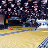 青州洗车店玻璃钢地格栅效果图
