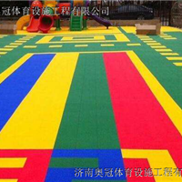 济南星洁悬浮地板篮球场幼儿园活动场地