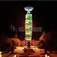 云南四面魔方柱|丽江LED旋转柱|LED广告设备