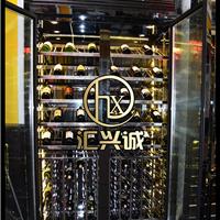 汇兴诚不锈钢展示酒柜葡萄酒酒柜珠宝柜定制