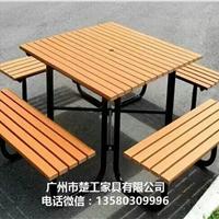 景观钢木家具 园林工程坐凳 成品桌椅案例
