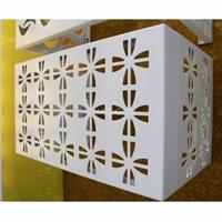 挂壁式铝空调罩,单板雕花空调雨罩