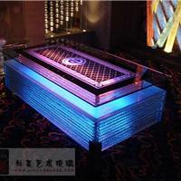 ktv发光茶几  15mm艺术玻璃桌面桌子