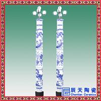 瓷灯柱厂家  手绘瓷灯柱 3米瓷灯柱订做