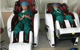 人家的手术室:郑大一东区医院手术室有阳光房,房里有按摩椅-阳光房