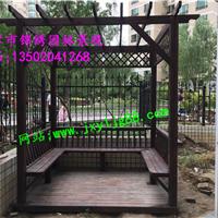 天津碳化木葡萄架 花架 花盆 花箱定制厂家