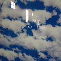 蓝天白云吊顶玻璃    超美
