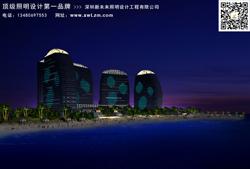 酒店室外灯光设计,酒店外墙亮化工程