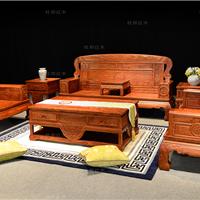 东阳红木刺猬紫檀真专家客厅沙发凤凰于飞