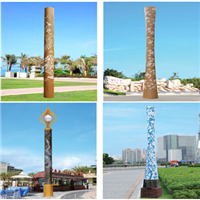 圆柱型雕花镂空景观灯