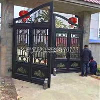 中式豪华庭院门 铝合金别墅门图片 铝艺大门