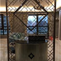 上海别墅不锈钢屏风隔断雕花镂空玄关