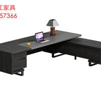 碧江老板大班台办公桌时尚 简约总裁桌厂家